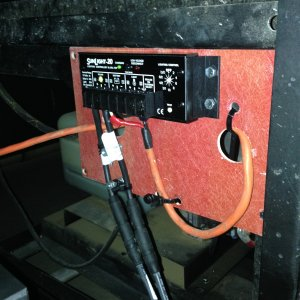 the charge controller is mounted in the battery bay of the RV inline fuses work best for this application
